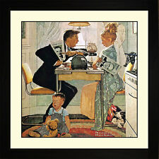 Norman Rockwell ELECTION DAY Framed Couples Politics Candidates Wall Hanging Art