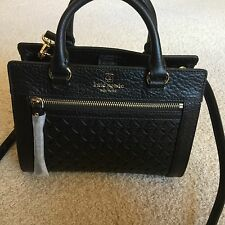 Auth Kate Spade BLACK Mini Romy Perri Lane Full Leather Removable Strap