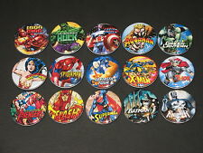 Super Heroes Buttons/ Pins 15 set C