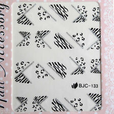 NAIL ART WATER TRANSFERS STICKERS DECALS Leopard Lace Animal Print French BJC133