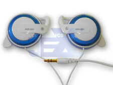 High Quality Blue & White Over Ear Pad/Hook Earphones Headphones Q50-2