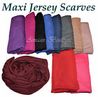 TOP QUALITY JERSEY HIJAB STRETCHY BIG LARGE PLAIN LYCRA MAXI SCARF SHAWL WRAP