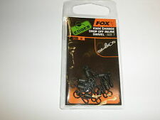Fox Edges Kwik Change Drop Off Inline sz7 Swivels 8pk Carp fishing tackle