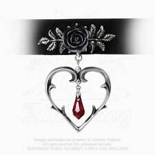 Alchemy Gothic Pendant Wounded Love Choker /  Necklace Valentines Gift