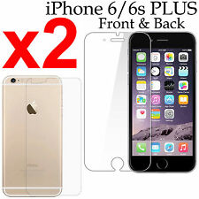 x2 Anti-scratch 4H PET film screen protector iphone 6 6s PLUS front + back