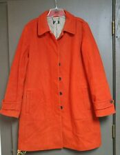 J Crew Wool Peacoat Orange Wool Jacket Women's Large L Lined Thinsulate Liner