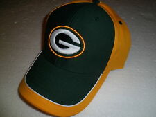 Green Bay Packers NFL Football Team Apparel Cap Kappe One Size Klett Velcro