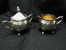 Vintage Leonard Silver Plated Creamer And Sugar Bowl