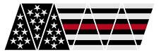 Firefighter Red Line Black American Flag 1010 Helmet Reflective Decal Sticker