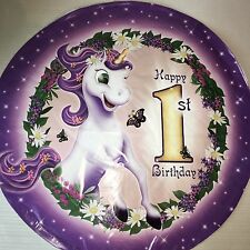 "18"" Unicorn 1st Birthday Lilac Purple Pink Foil Balloon Girl Princess Fantasy"