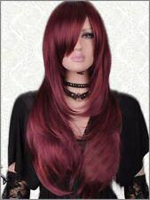 NEWJF144  fancy long wine red wome's health hair Wig wigs for women