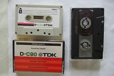 TDK D C-90 and Sony UX-S90 Two Cassette tapes