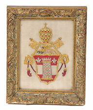 Pope John XXIII Coat of Arms--Hand Embroidered w/ Gold Thread