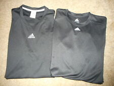 LOT OF 2 ADIDAS MENS S/S L/S ATHLETIC SHIRTS SIZE L CLIMALITE