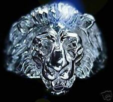 New Lion Ring Head Face Real Sterling silver .925 Jewelry Detailed Leo King Cat