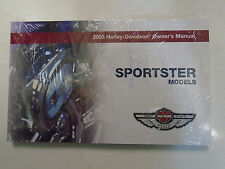 2003 Harley Davidson Sportster Owners Operators Owner's Manual FACTORY Brand New