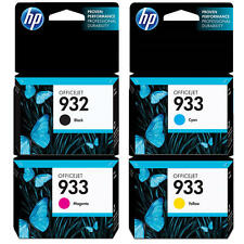 HP Genuine 932 (B) + 933 (C, M, Y) Set of 4 Box Ink Cartridge