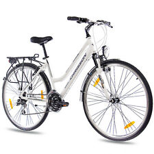 "28"" ZOLL CITY BIKE TREKKINGRAD ALU DAMENRAD CHRISSON INTOURI ACERA weiss B-WARE"