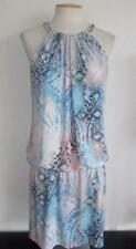 JESSICA SIMPSON MISSES SZ 10 MULTI-COLOR SLEEVELESS DROP WAIST FASHION DRESS
