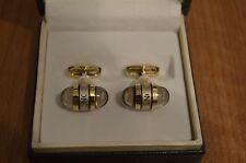 Montblanc gemelos cufflinks cuff buttons Manchette/(gold, dorado)