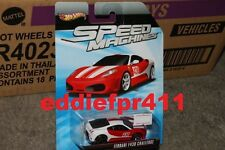 1/64 HOT WHEELS FERRARI F430 CHALLENGE RED AND WHITE SPEED MACHINES DIECAST RARE