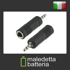 """Adattatore Cuffie RIDUTTORE: jack 6.3mm Femmina   jack 3.5mm Maschio TRS 1/4"""""""
