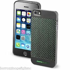 BUMPER COVER CUSTODIA CARBONIO VERDE MOMO DESIGN PER iPHONE 5/5S