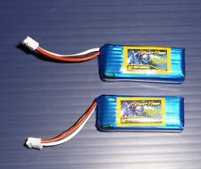 2 Pak UMX Plane Upgrade Lipo Batteries 300mAh 35C P-51 BL P-47 BL F-16 EDF Great