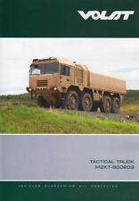 VOLAT MZKT 600203 2014 6x6 8x8 10x10 BELARUSSIAN ARMY MILITARY BROCHURE PROSPEKT