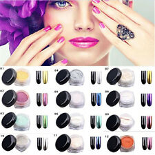 12PCS Glitter Sexy Mirror Chrome Effect Dust Magic Shimmer Nail Art Powder Kit
