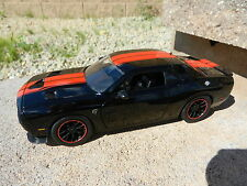 1:24 JADA TOYS *BLACK w/Red Stripes* 2015 Dodge HELLCAT Challenger DIECAST!