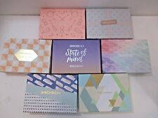 LOT OF 7 EMPTY BIRCHBOX BOXES PEACH ACCENT DECORATIVE CRAFTS COLLECTIBLE STORAGE