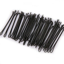 New 60Pcs Black Invisible Hair Clip Flat Top Bobby Pins Grips Salon Barrette 4CM