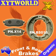 FRONT REAR Brake Pads Shoes for Yamaha TT 250 1987-1992