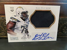 National Treasures Autograph Rookie Jersey Chargers D.J. Fluker 31/99   2013