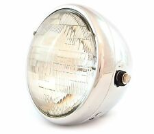 "7"" Custom Side Mount Motorcycle Headlight - Chrome - Clear"