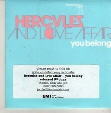 (CN260) Hercules & Love Affair, You Belong - 2008 DJ CD