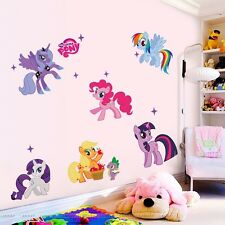 Hot Cartoon My Little Pony Wall Sticker Decals Kids Nursery Decor Removable