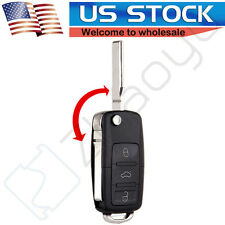 Uncut Remote Flip Key Fob Transmitter for VW Volkswagen Golf Jetta Passat Beetle