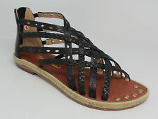 Matt Bernson Women's Monaco Sandals, Black, Sz 6 M US {FR6 HZ25