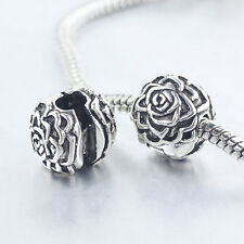 1Pc New Silver Plated Flower Safety Stopper Beads Fit Bracelets DIY Making