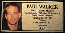 Paul Walker The Fast & Furious R.I.P. Free Postage********