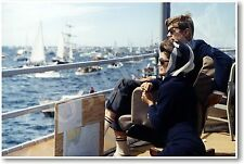 President John F. Kennedy Watching Americas Cup Race - NEW Famous Person POSTER