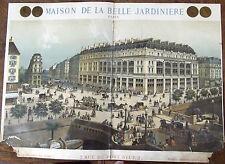 ANCIENNE AFFICHE PUBLICITAIRE FIN XIX ° MAISON DE LA BELLE JARDINIÈRE  PARIS
