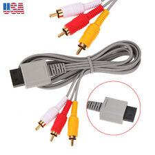 2pcs NEW For Nintendo Wii HD Premium composite  RCA Audio Video AV Cable Cord TV