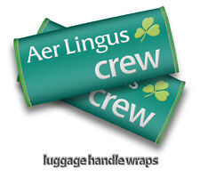 Aer Lingus CREW Luggage Handle Wraps x2