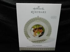 "Hallmark Keepsake ""Our Wedding"" 2015 Photo Holder Ornament NEW Includes Sticker"