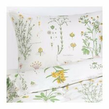 IKEA Queen Size Quilt Doona Cover And Pillowcases Set Floral Print 200x200cm