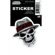 LETHAL THREAT Motorcycle Scooter Bike Board Helmet Mini Sticker CHROME CH00007