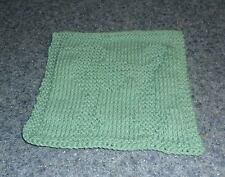 Brand New Hand Knit Standard Poodle Dog Blue Dish Cloth For Dog Rescue Charity